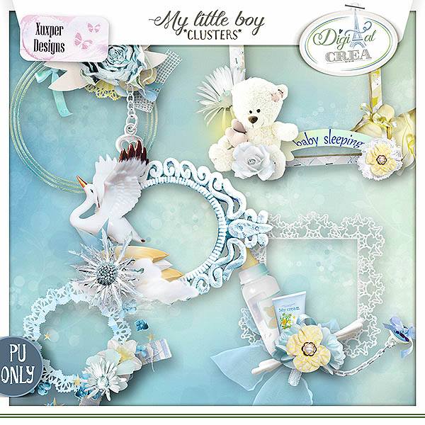 My little boy Clusters de Xuxper Designs