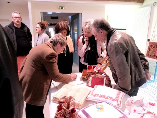 Les quilteuses de la MJC de Sainte Colombe sur Seine nous ont montré tout leur talent lors de leur exposition de 2018