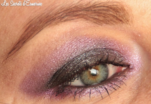 maquillage, violet, gris, makeup, dark, purple, mu, eyes, yeux, kiko, color impact, rain, smoky shades