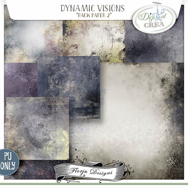 Dynamic Visions { Pack Paper 2 PU } by Florju Designs