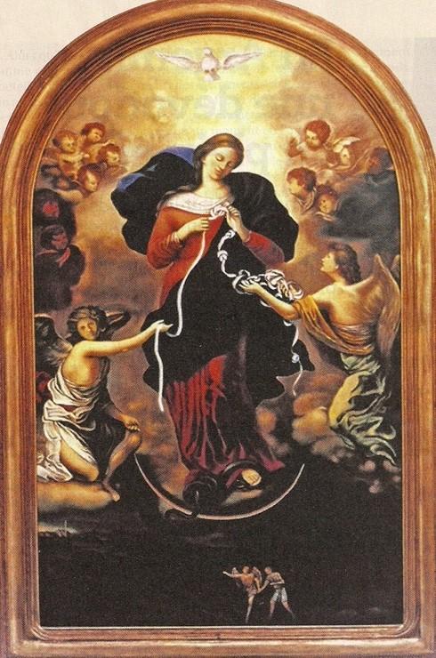 La Vierge aux rubans...
