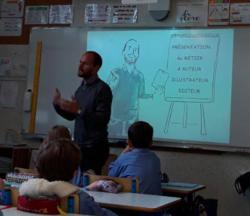 Visite de l'auteur Stéphane Capelle dans notre classe