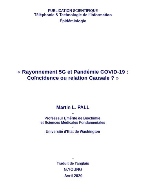 Rayonnement 5G et Pandémie COVID-19 - Une publication du professeur Martin L. Pall de l'Université de Washington