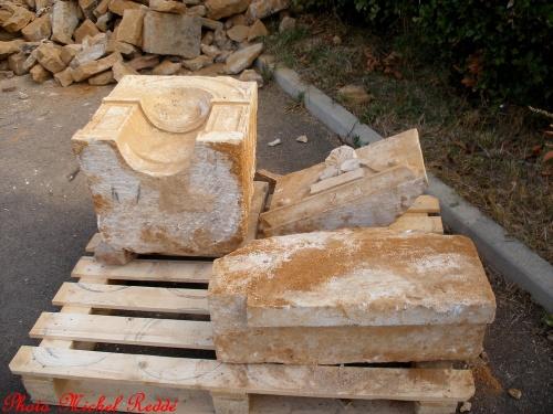 Les vestiges de la maison détruite du chemin du Chalumeau...