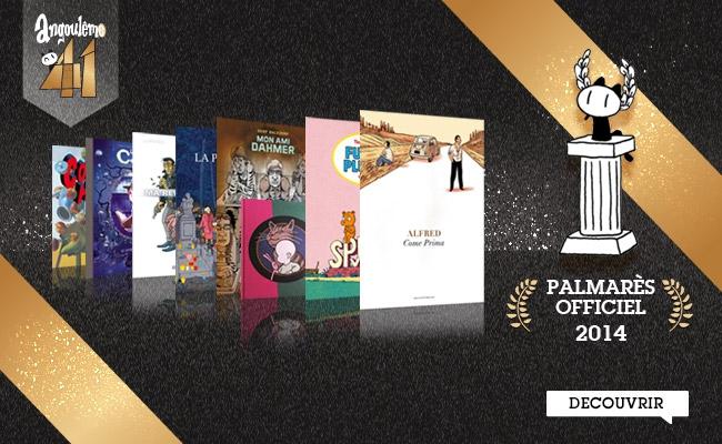 Palmarès officiel 2014 BD Angoulême