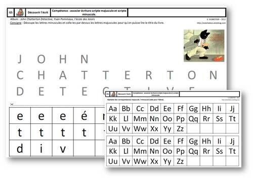 GS - Découvrir l'écrit - association minuscule/majuscule scripte