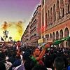 Samedi 03.05.2014 la parade du MCA dans les rues d\'Alger
