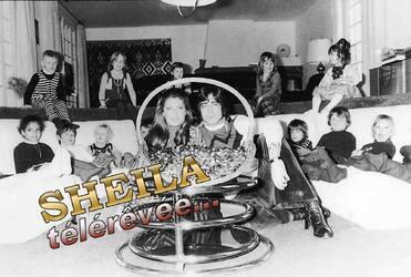 Janvier 1975 : Sheila, Ringo et les enfants.