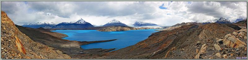 Et le but de notre randonnée : Lago Guillermo aux eaux d'un bleu indéfinissable ... - Estancia Cristina - Lago Argentino - Patagonie - Argentine