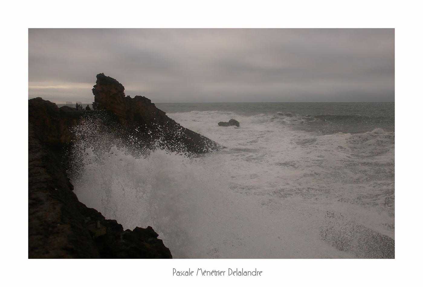 Tempête Carmen le 2 Janvier à Biarritz