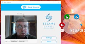 Enable Sesame : souris à la tête via webcam pour Windows / Android / IOS