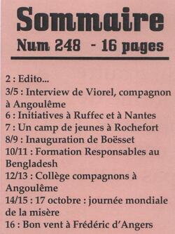"""Le journal """"De bouches à Oreilles"""" en 2014"""