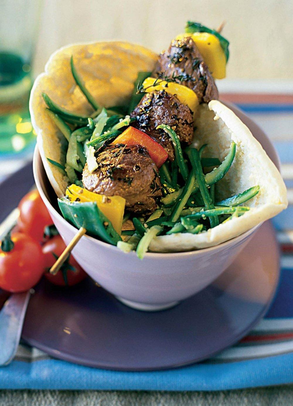 Brochettes de bœuf à la libanaise