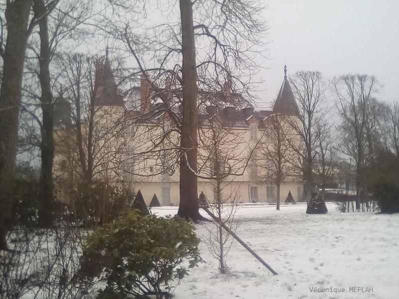 Rambouillet sous la neige : Le château