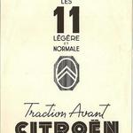 La traction 11 B et  BL Septembre 1951