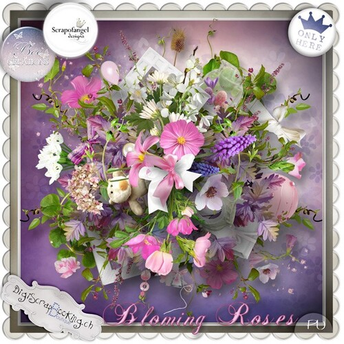 Kit Collab Blooming Roses de BeeCreation et ScrapOfAngel