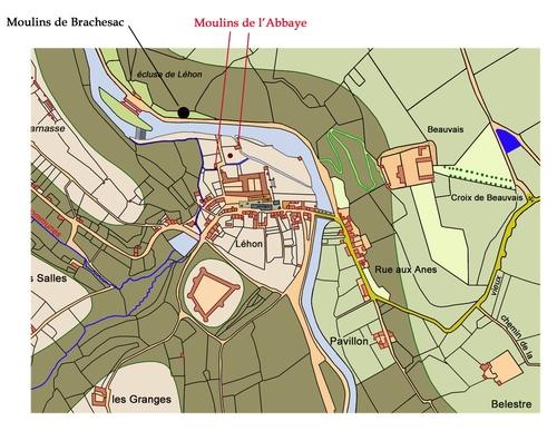Les différents actes originaux relatifs aux moulins de Brachesac