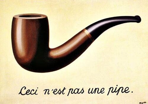 Magritte: Ceci n'est pas une pipe
