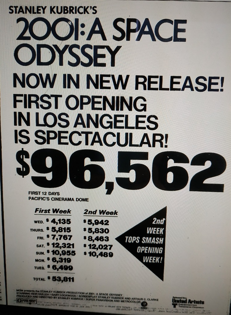 2001 a space odyssey reissue 1974