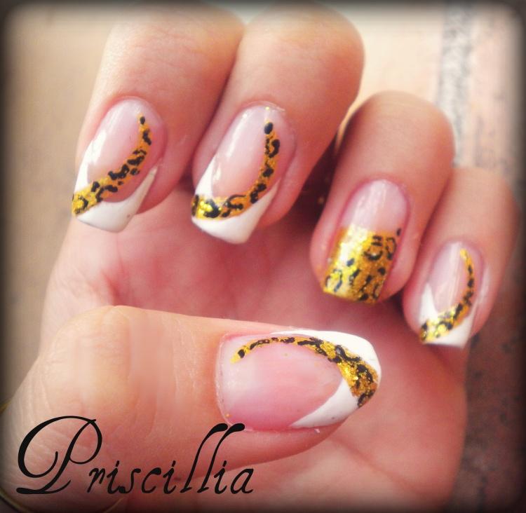 Nail art french manucure et léopard doré (débutant)