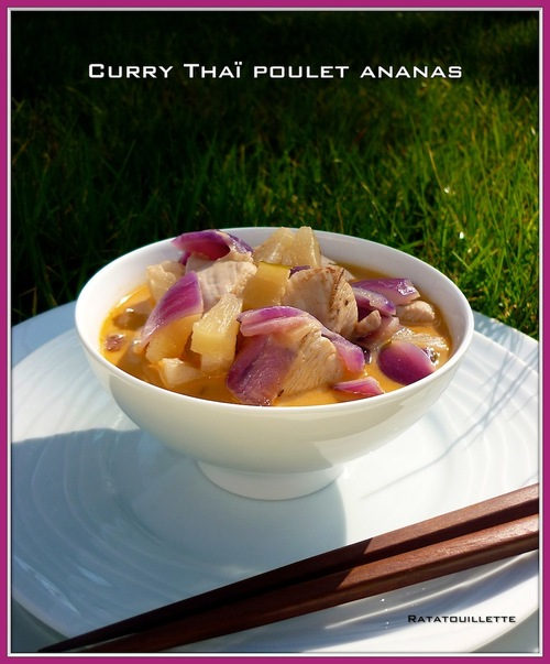 Curry Thaï express poulet ananas