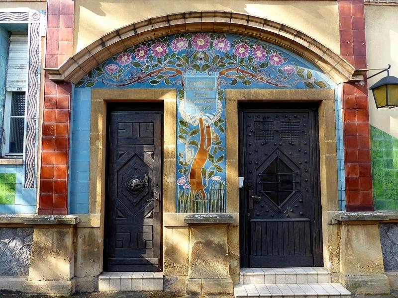 L'immeuble Villeroy & Boch rue Charles Pêtre à Metz...