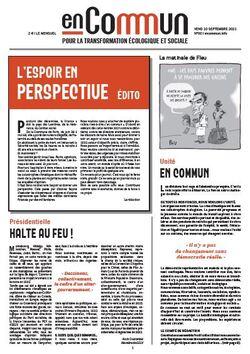 """L'espoir en perspective : le numéro 00 du journal """"en commun"""""""