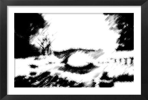 Dessin et peinture -- vidéo 2232 : Paysage d'hiver à la gouache ou à la peinture acrylique 1.