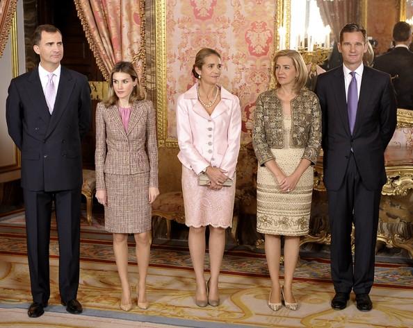 Réception royale à Madrid
