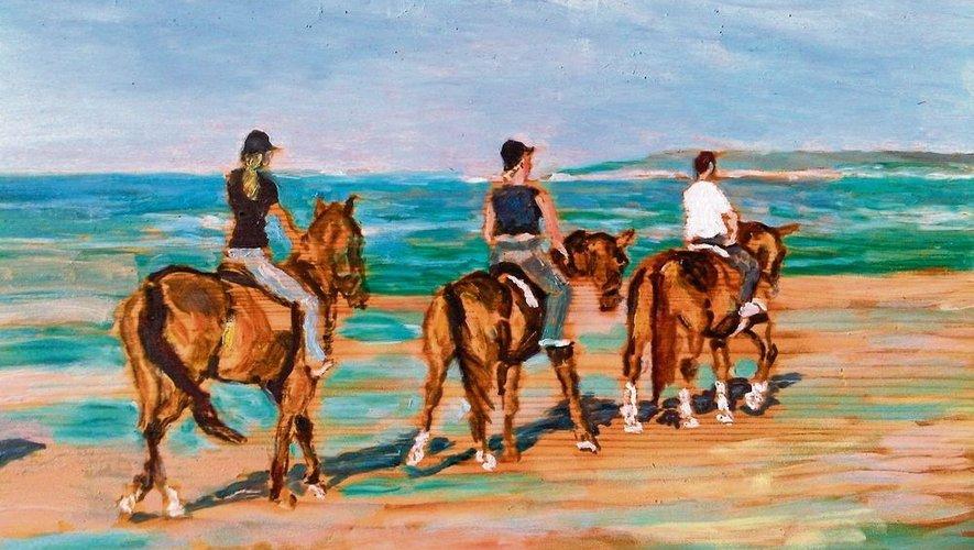 Les danseuses et les chevaux, deux passions d'Edgar Degas.
