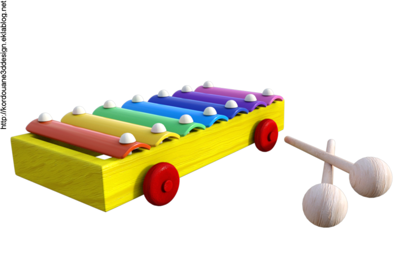 Tube de xylophone pour petit (image-render)