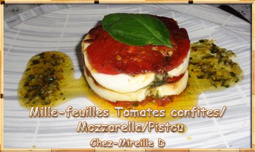 Mille-feuilles Tomates confites Mozzarella Pistou (Recette Tupperware)