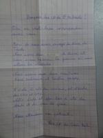 Une lettre de nos correspondants est arrivée !!!!