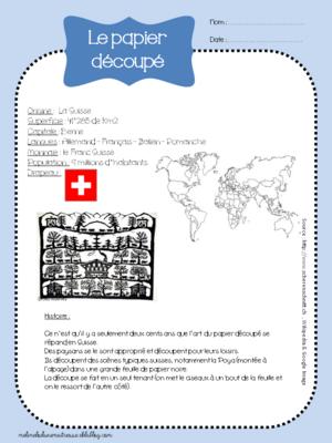 Les arts autour du monde : Le papier découpé