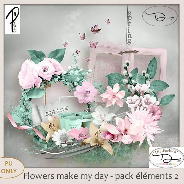 Flower make my day - element 2 (PU) PliDesigns