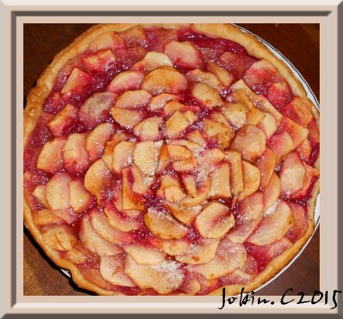 Tarte aux pommes et compote de pommes -framboises