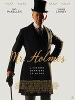 En 1947, Sherlock Holmes, depuis longtemps à la retraite, vit paisiblement dans le Sussex, avec sa gouvernante et son fils, un détective amateur. Mais la quiétude recherchée n'est que de façade... Une affaire vieille de 50 ans le hante encore et toujours. Malheureusement seuls quelques fragments sont encore vivaces : une altercation avec un époux en colère, un lien profond mais mystérieux avec son épouse fragile. Si son légendaire pouvoir de déduction n'est plus intact, et si Watson n'est plus là, Holmes va se lancer dans son ultime enquête, la plus compliquée de sa longue carrière...-----...Origine du film : Britannique, Américain Réalisateur : Bill Condon Acteurs : Ian McKellen, Laura Linney, Milo Parker Genre : Drame, Policier Durée : 1h 44min Date de sortie : 4 mai 2016 Année de production : 2015 Distribué par : ARP Sélection