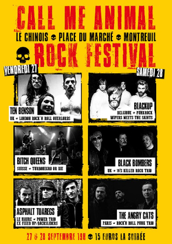 Call Me Animal, rock festival - Le Chinois (Montreuil)