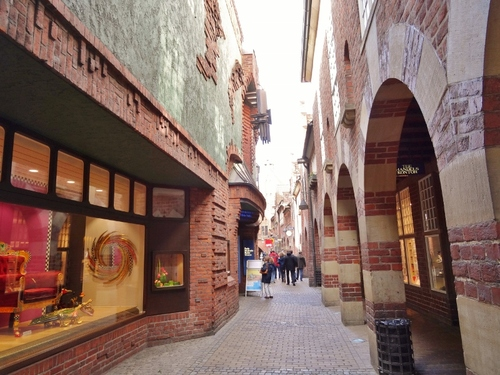 Brême en Allemagne: flânerie autour d'une zolie rue (photos)