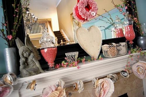 decoracao lareira para dia dos namorados Decoração para o Dia dos Namorados