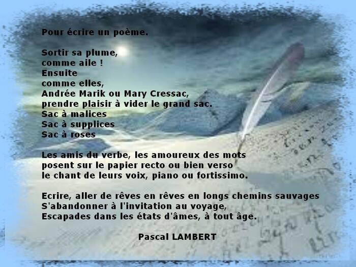 Auteur : Pascal LAMBERT.