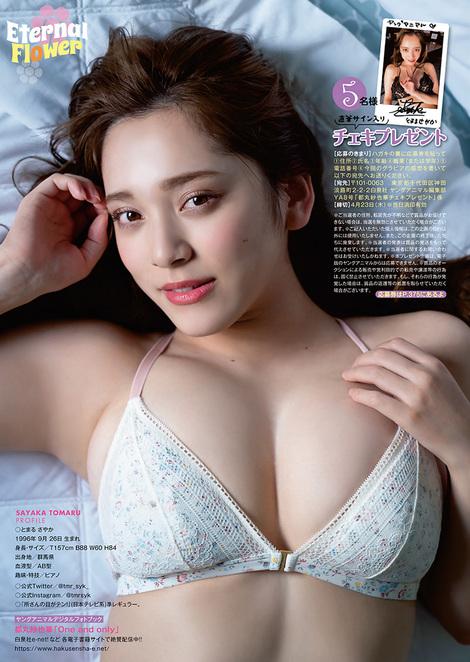 Magazine : ( [Young Animal] - 2020 / N°8 - Sayaka Tomaru & Misaki Jimbu Staring )