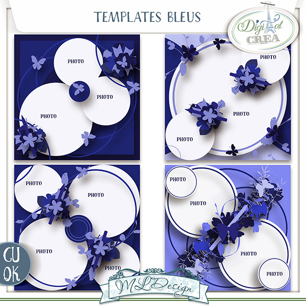TEMPLATES BLEU BY MLDESIGN