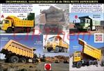 CHINE: les camions miniers spécifiques à très nette supériorité.