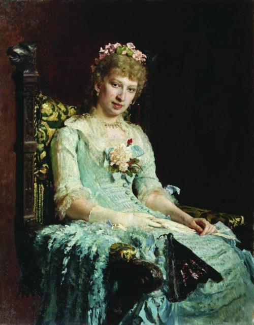 Portrait of E D Botkina by Illya Repin, 1881 Russia