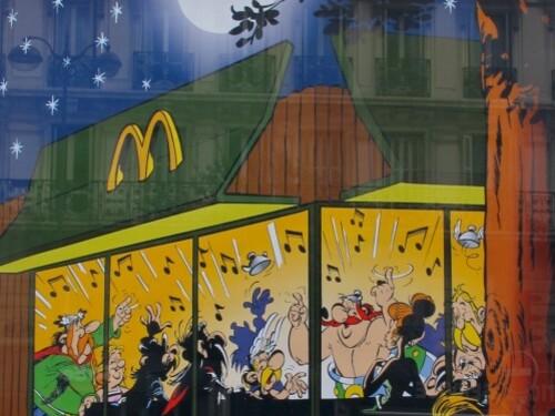 affiche MacDo Astérix banquet