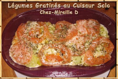 Légumes Gratinés au Cuiseur Solo Micro-ondes