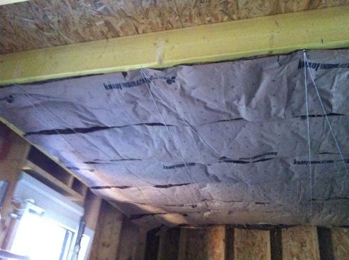 Isolation du plafond