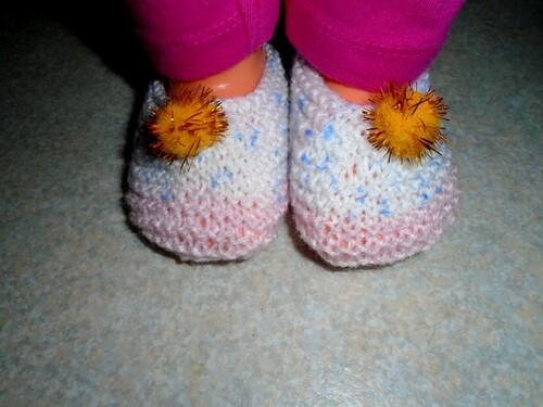 Martine et ses chaussons pompons