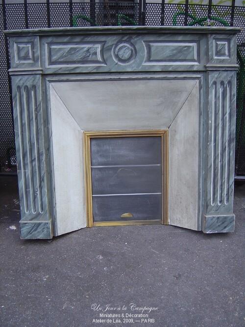 Cheminée en imitation marbre
